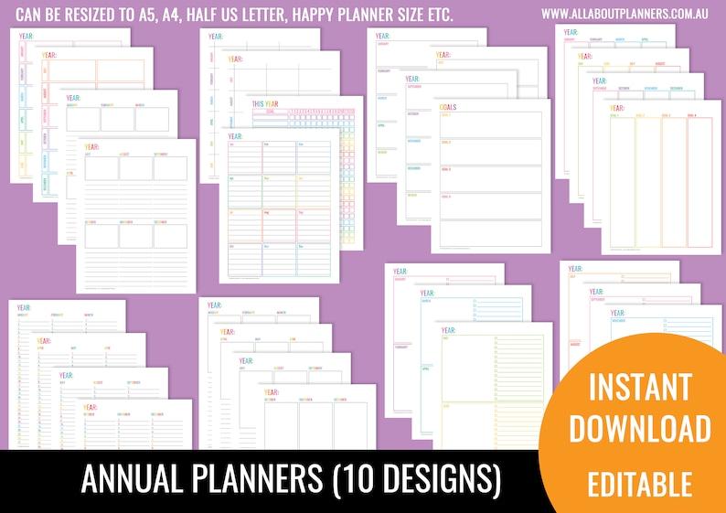 annual planner printable planner insert editable refill to do image 0