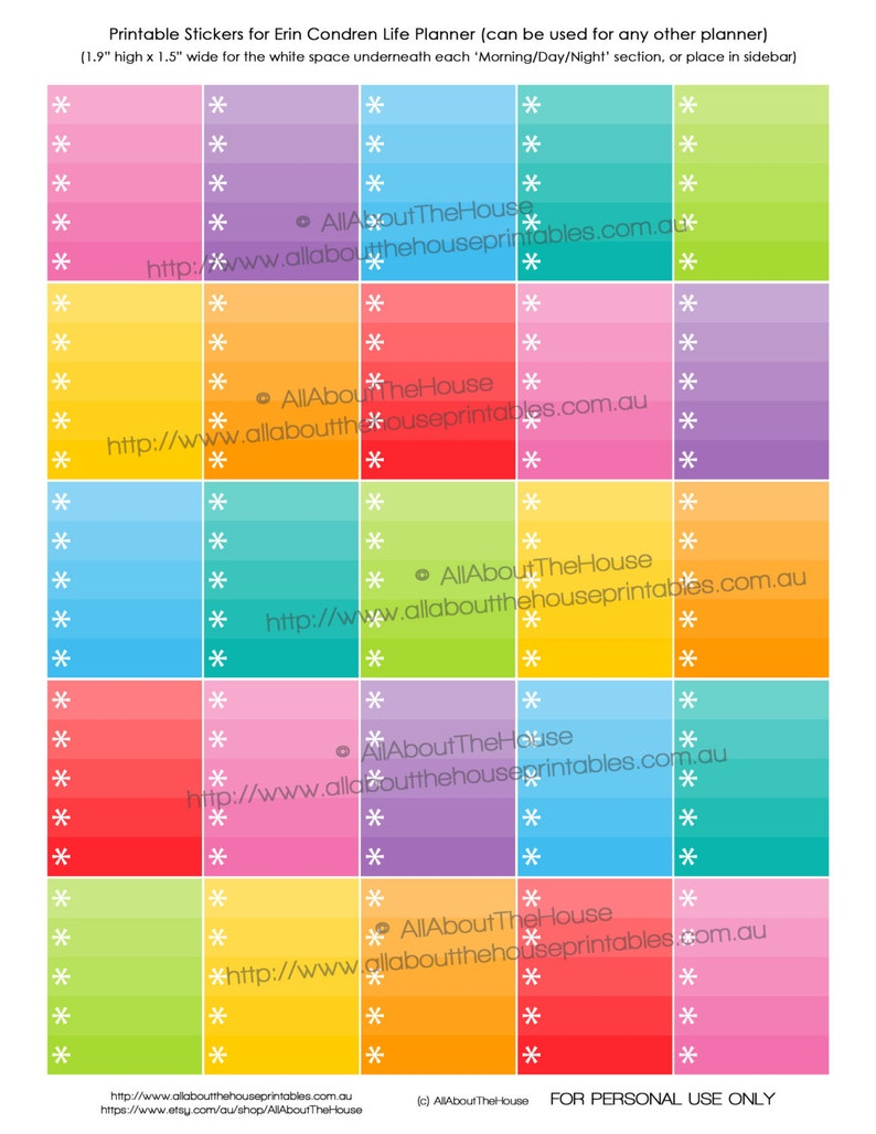 Asterisk Ombre List Planner Stickers Printable Checklist To Do image 0