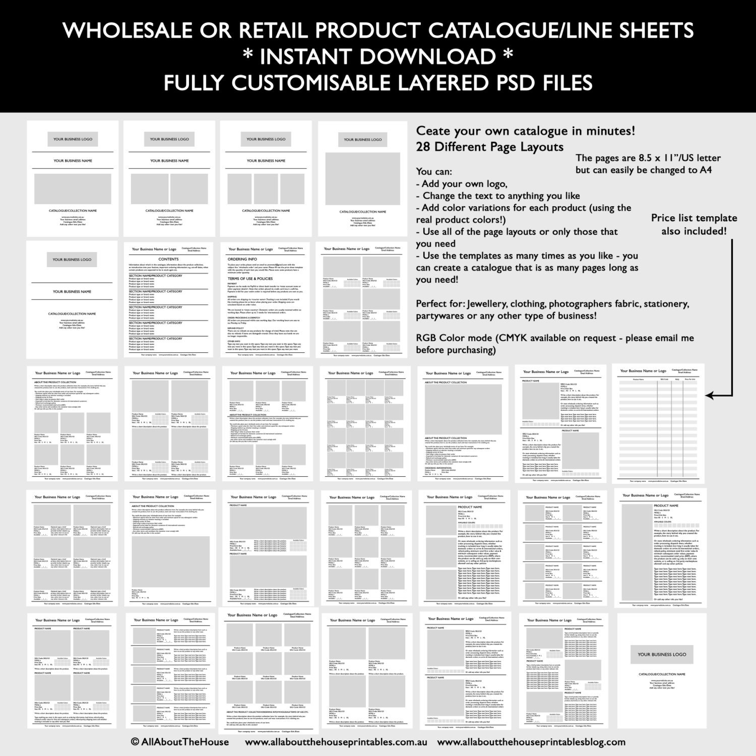 Catalogue template wholesale retail pricing product line etsy image 0 maxwellsz