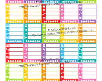 Healthy Living Planner Stickers ECLP Horizontal Planner made for Erin Condren Printable Rainbow Daily Sidebar Right Section HDS16