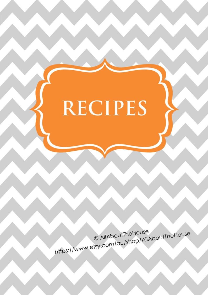 Recipe Binder Printables EDITABLE Recipe Sheet Recipe Card image 0