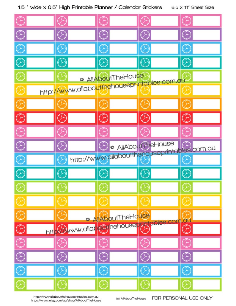 Meeting Appointment Planner Stickers  Rainbow Calendar image 0