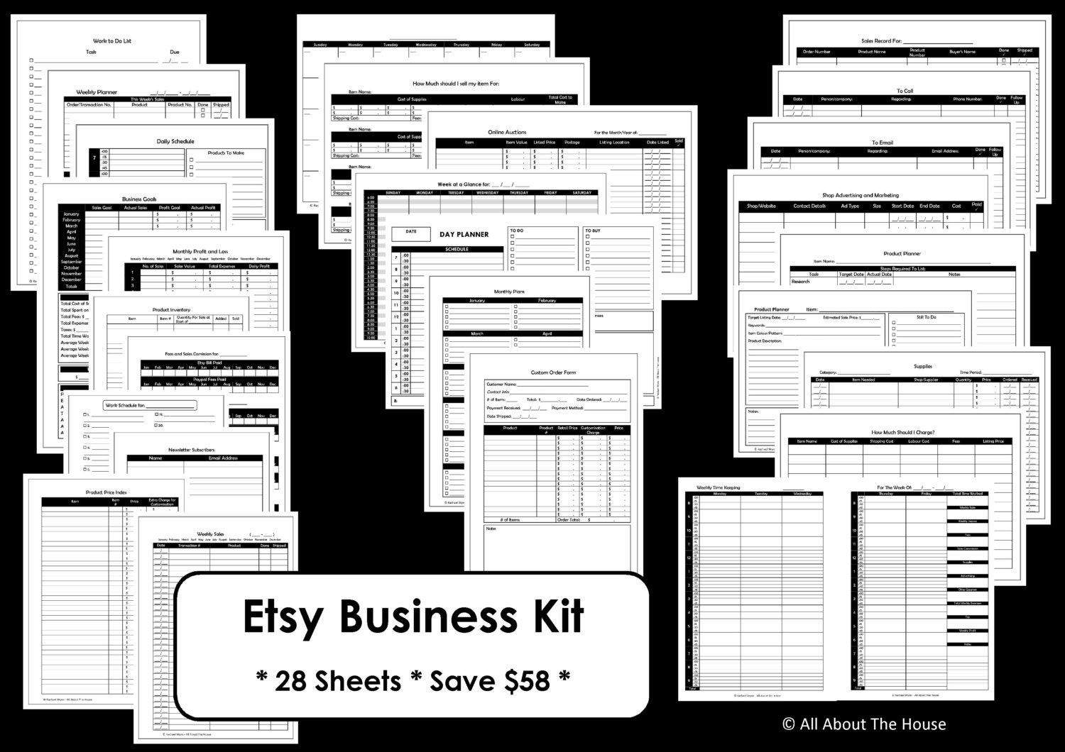 Etsy Business Planner Printables Work At Home Mom online | Etsy