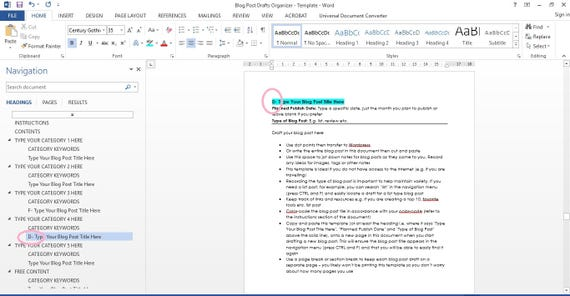 Editorial Template For Microsoft Word