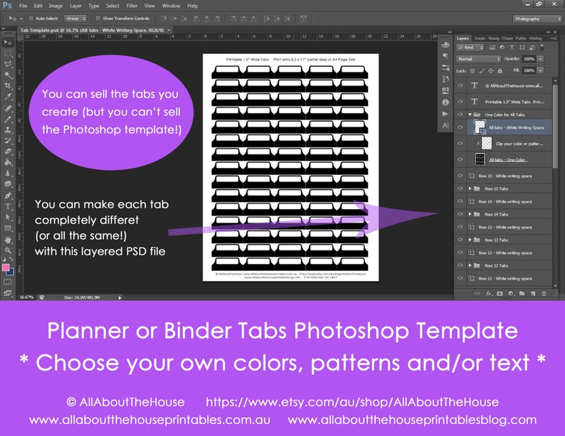 Printable Planner Tab template for planners household binder image 0