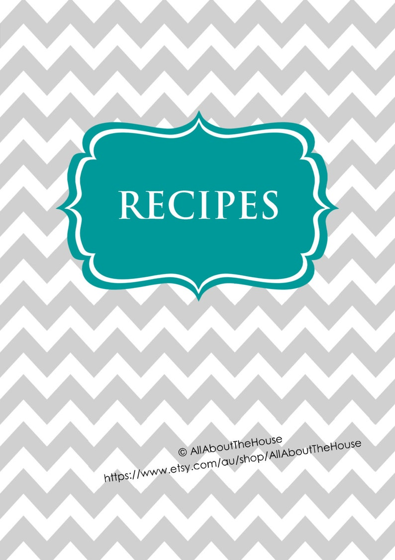 EDITABLE Recipe Binder Printables Recipe Sheet Recipe Card image 0