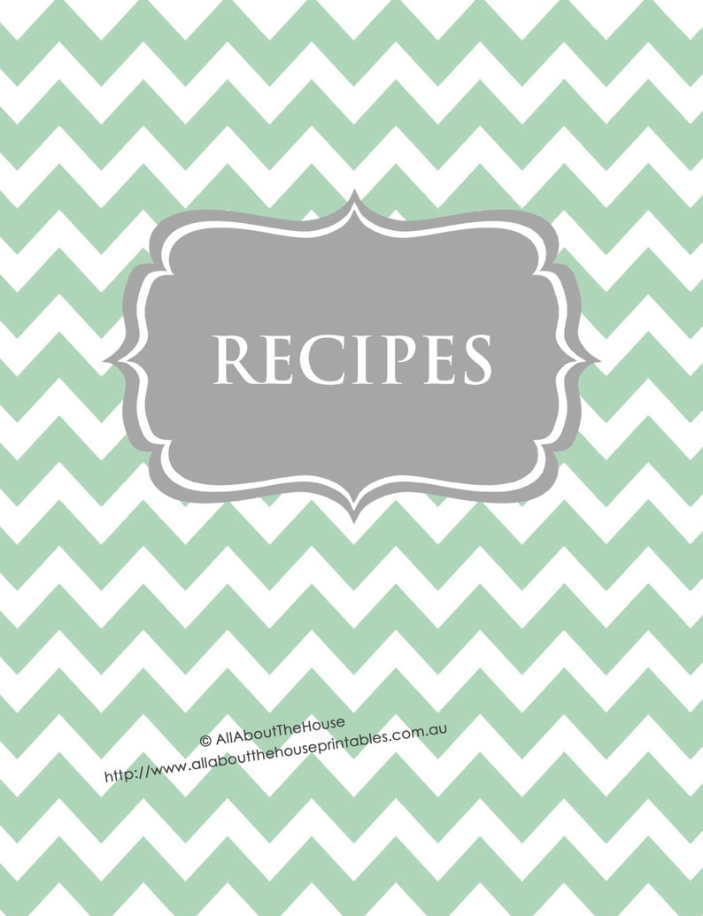 EDITABLE Recipe Binder Printables Recipe Sheet Recipe Card image 0
