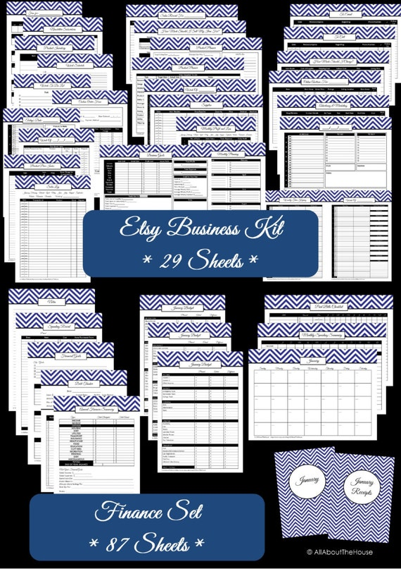 photograph relating to Etsy Printables named Etsy Business enterprise Package Finance Fastened Printables Office Planner