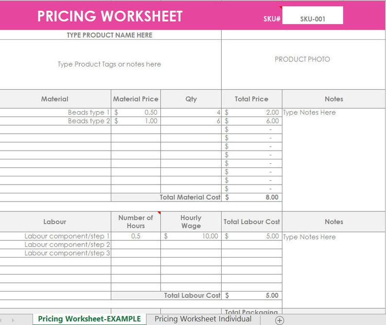 Pricing Calculator shop management Tool Etsy Sellers handmade image 0