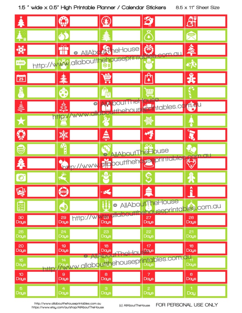 Christmas Planner Stickers Printable To Do Checklist Holiday image 0