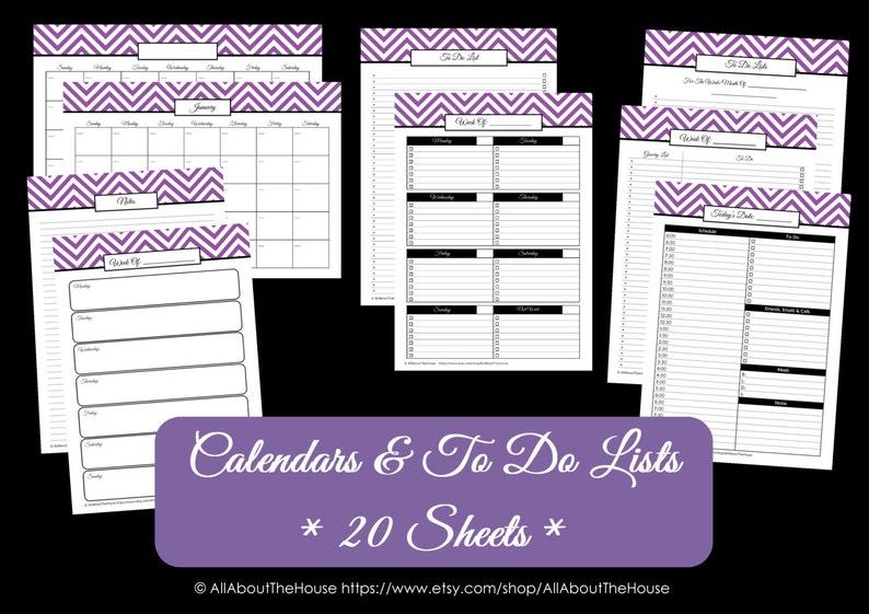 DARK BLUE Calendar and to do list Perpetual Calendar Household image 0