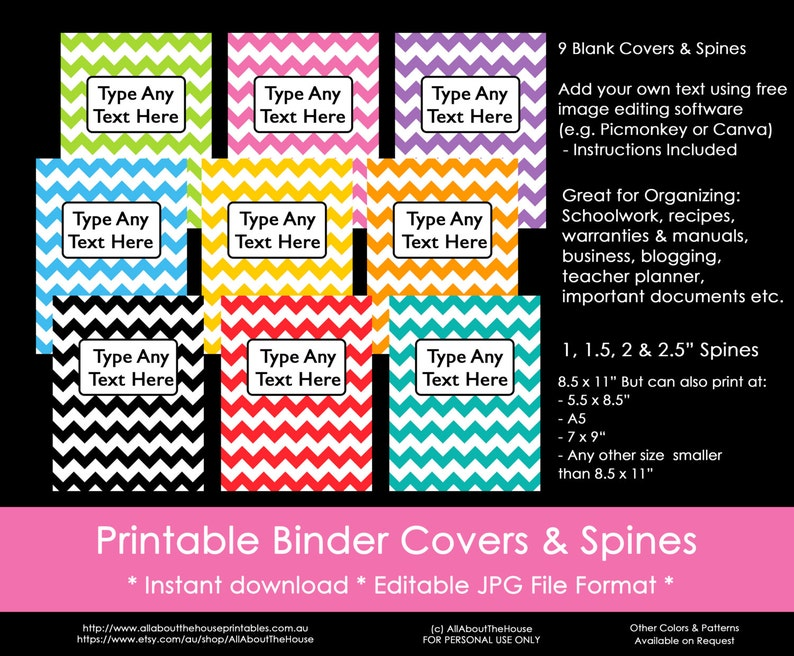 photograph relating to Free Editable Printable Binder Covers and Spines titled Planner Include, binder divider, planner include, rainbow, letter measurement, 50 % Dimensions, A5, chevron, Printable, rainbow, content planner, erin condren