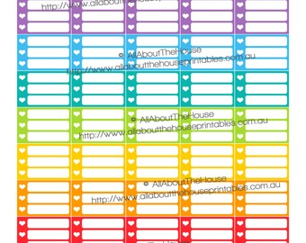 List Planner Stickers Half Box printable made for Erin Condren  ECLP Plum Paper Inkwell Press Limelife Planner checklist HB037