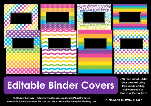 It is an image of Printable Binder Covers for School throughout diy