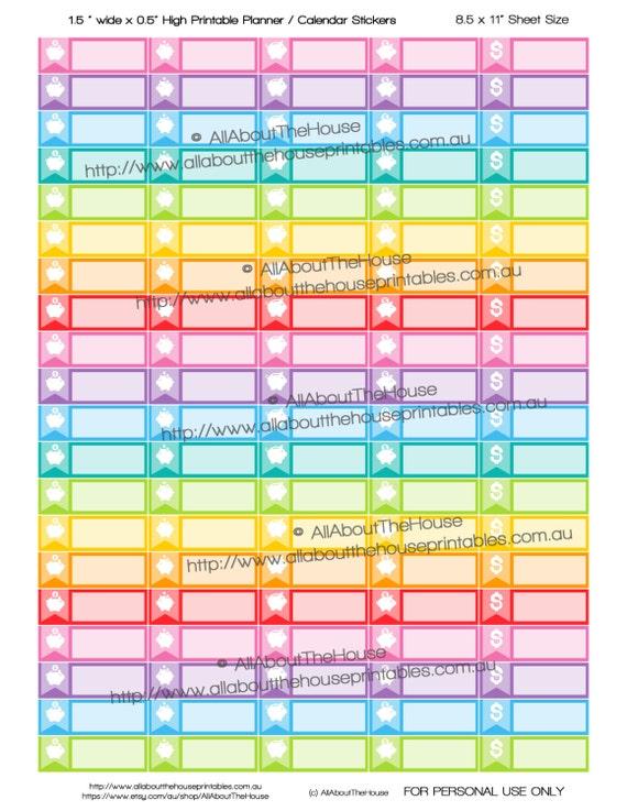 image about Printable Calendar Stickers identify Discounts Tracker Piggy Lender Income Printable Calendar
