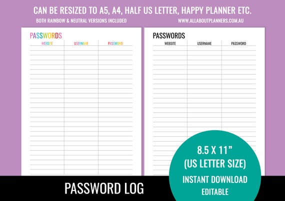This is an image of Password List Printable inside free email password
