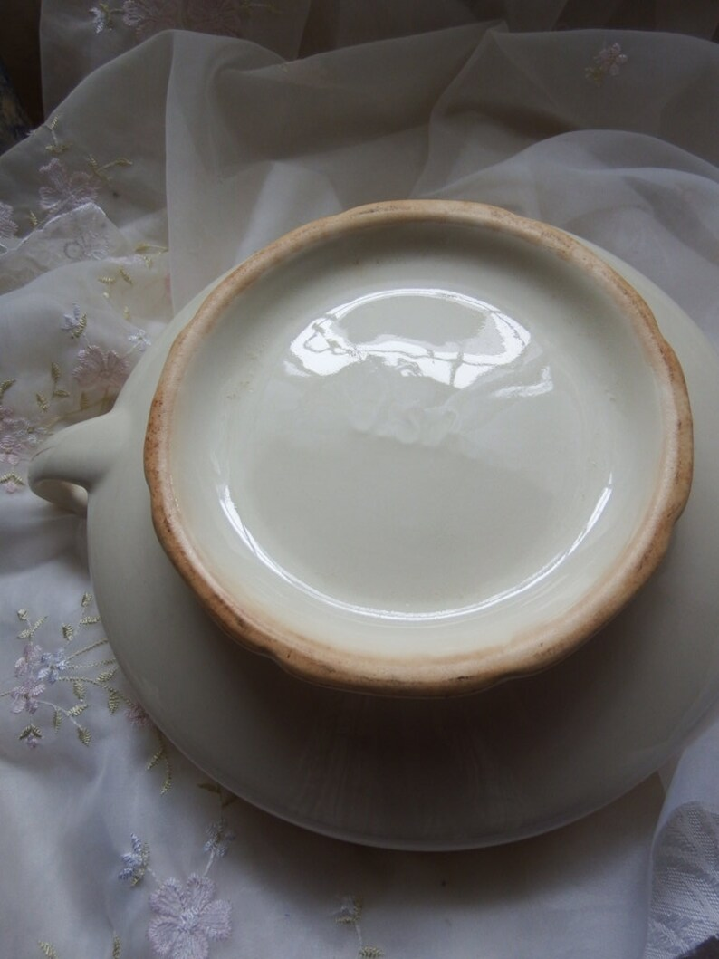 Covered Vegetable Bowl Circa 1920s1930s Mount Clemens Ivory