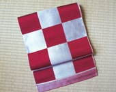 Red silver check Japanese...