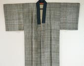 Mens Nagajuban grid silk,...