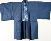 Japanese silk Haori blue ...