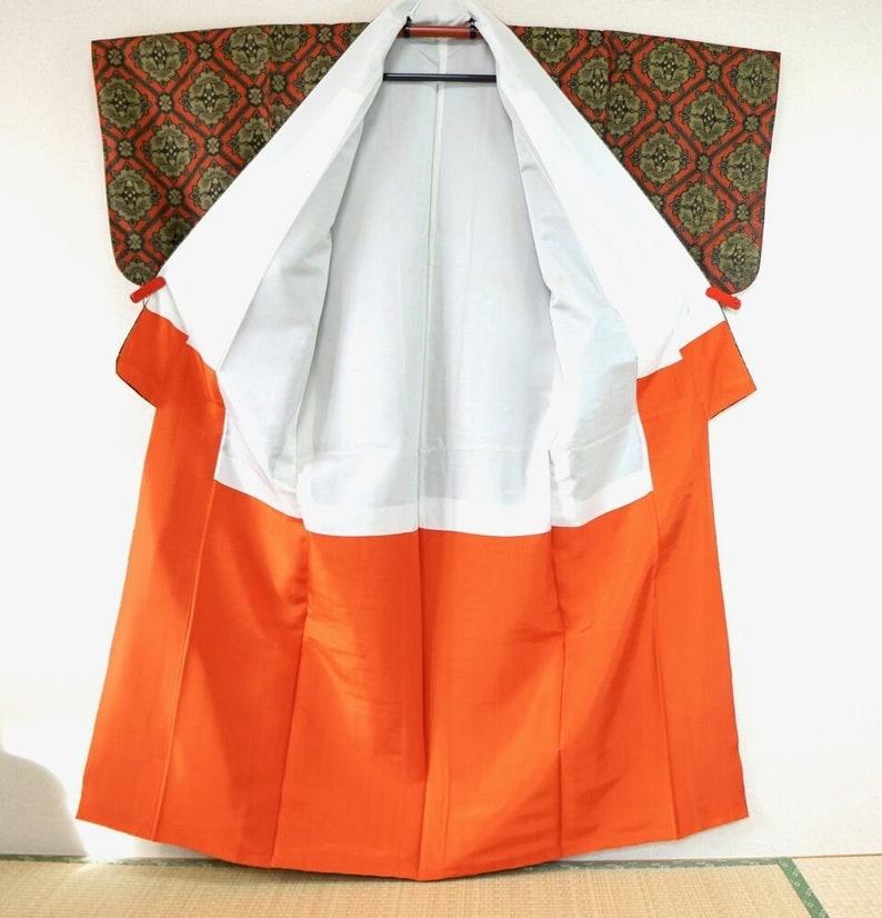 d5e459571 Red Black Kimono Set MINT Green Japanese Art Deco oshima | Etsy