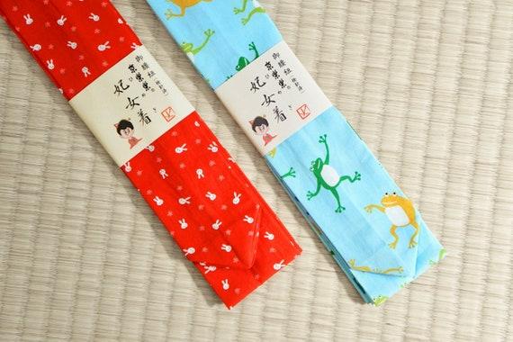 authentic kimono tie kimono underwear kimono dressing item women belt kitsuke band kawaii panda blue pink yellow Kimono koshi himo tie