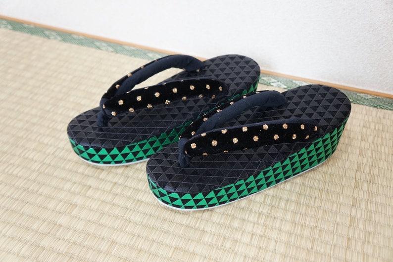 f681e3868d7b SALZ Tokyo Original zouri sandals green black MADE to ORDER