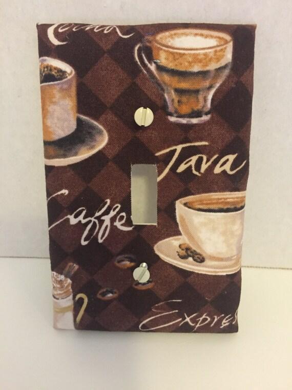 Single Light Switch Plate Cover Cafe Espresso