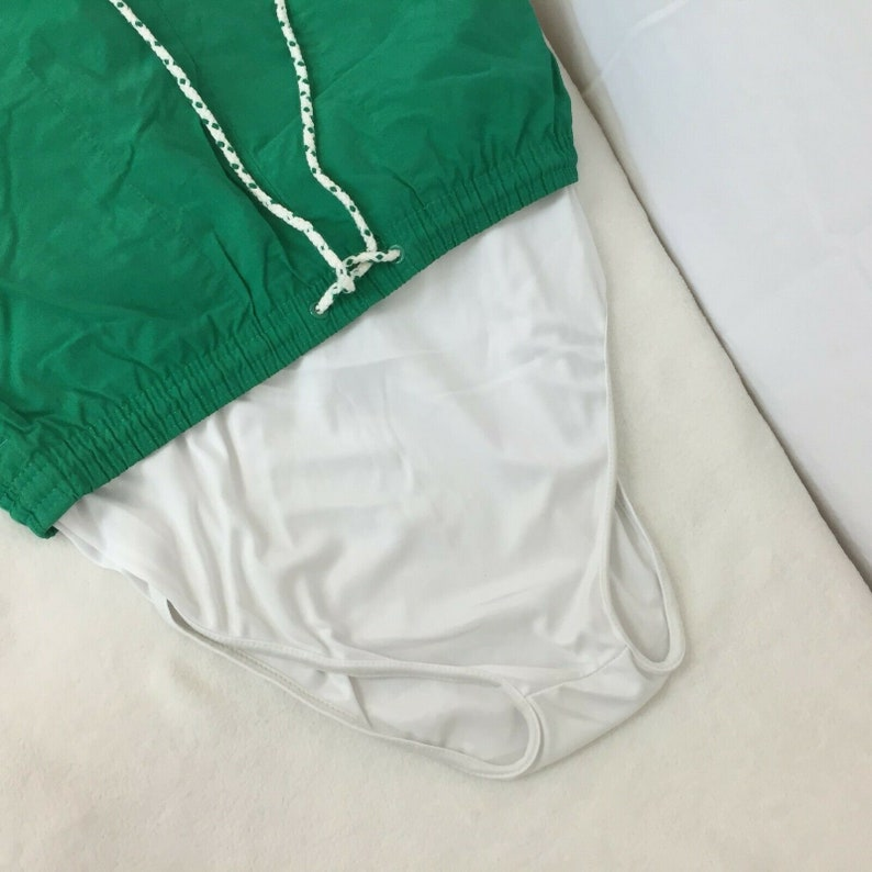 Vintage Nautica Competition Swim Trunks Medium Mens Green Lined Pocket 80s 90s