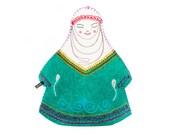 Felt Mongolian Kazakh Tea Cover Cozy Teapot Cover babushkha tea cozies handmade
