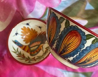 Handmade ceramic cup bowl uzbek kazakh style for soup food plate decoration decorative ceramic