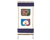 Felt Mongolian Kazakh Painting Panel handmade with yurt ger with storage pockets