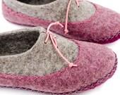 Felt Mongolian Kazakh wool slippers warm winter