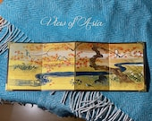 Japanese screen painted rimpa gold handmade vintage japan japanese art