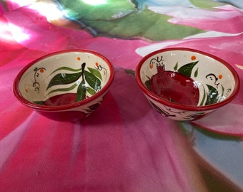 Uzbek traditional Bowl cup with pomegranate granat tea cup vintage style