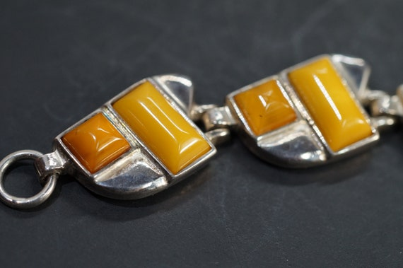 Mid Century Modern Sterling Silver Butterscotch Am