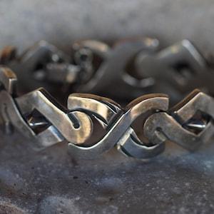 Vintage Stamped CL Mexico 925 Sterling Clasp Bracelet 5.67 Grams