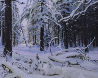 A Winter forest. A Copy from the art work of I.Shishkin
