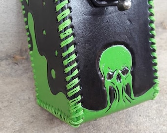 Custom Tooled Leather Deck Box