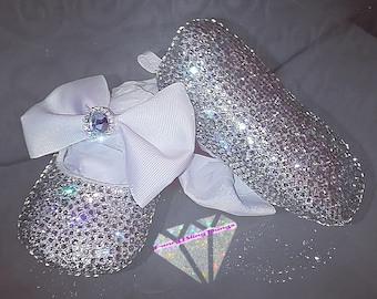 4eda7e670cfc Crystal Bow Bling Baby Shoes