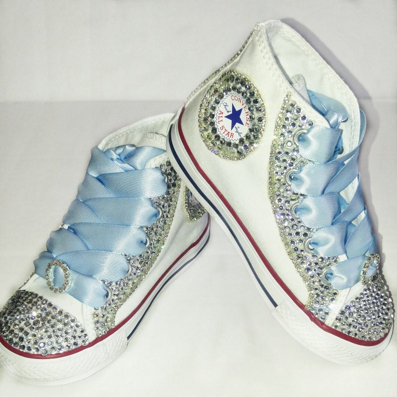 5870a700ebe7 Bling Kid Sparkly AB Swarovski Sneakers