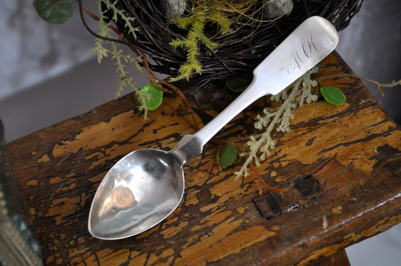 nice gift idea Antique Sterling Silver Vintage coin silver spoon Coin Silver Sterling Spoon sterling in our shop,#984 Over 100 pc