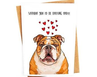 Funny English Bulldog Card