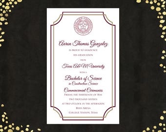 qty 25 spanish college graduation invitations announcements etsy