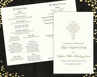 wedding programs elegant wedding program traditional wedding etsy