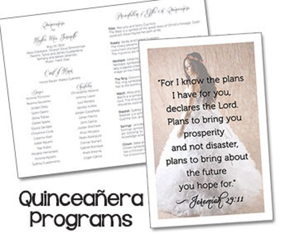 quinceanera programs sweet 15 programs mis quince anos etsy