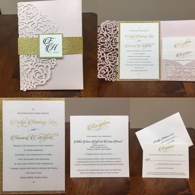Gorgeous Burgundy Shimmer Laser Cut Wedding Invitations Pocket Wedding Invitations Die Cut Laser Cut Jacket Traditional Laser Cut