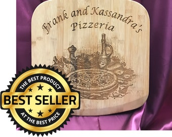 Extra Large Premium Personalized Bamboo Pizza Paddle/Cutting Board/Father's Day/Kitchen Decor/Pizzeria/Chefs Gift/Wedding Gift/Anniversary