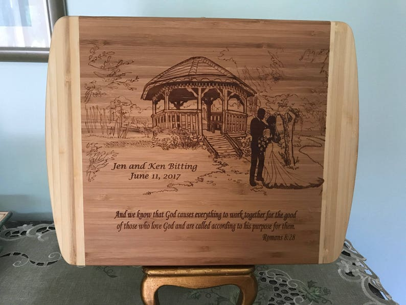 Personalized Wedding Cutting Board Wood Cutting Board image 0