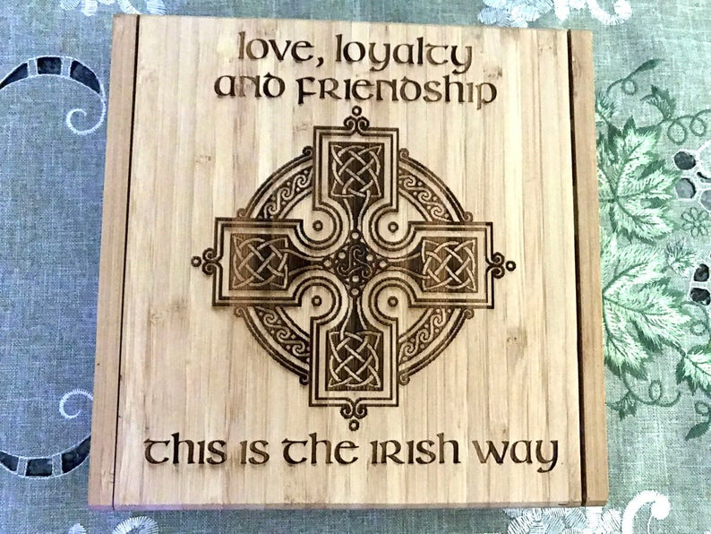 Celtic Cross Cheese Board Set Personalized St. Patrick's image 0